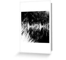 abstract  wave bw Greeting Card