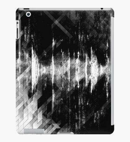 abstract  wave bw iPad Case/Skin