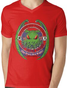 THE STARS ARE RIGHT - ELDER PARTY Cthulhu 2016 T-Shirt Mens V-Neck T-Shirt