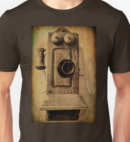 Old Wooden Phone Unisex T-Shirt