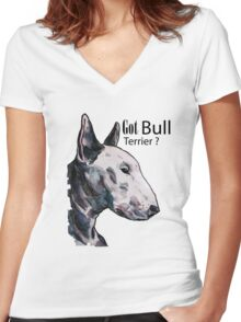 Bull Terrier Women's Fitted V-Neck T-Shirt