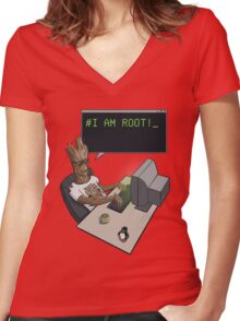 I am Root Women's Fitted V-Neck T-Shirt