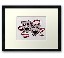 Comedy And Tragedy Theater Masks Framed Print