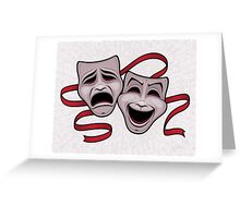 Comedy And Tragedy Theater Masks Greeting Card