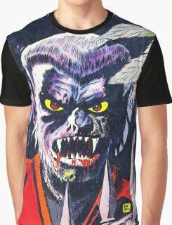 Horrific Tales Werewolf monster comic cover Graphic T-Shirt