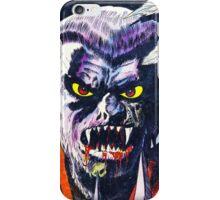 Horrific Tales Werewolf monster comic cover iPhone Case/Skin