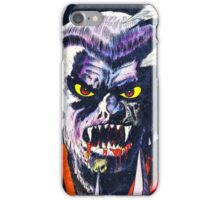 Horrific Tales Werewolf monster comic cover iPhone Case/Skin