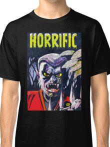 Horrific Tales Werewolf monster comic cover Classic T-Shirt
