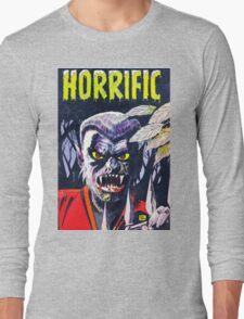 Horrific Tales Werewolf monster comic cover Long Sleeve T-Shirt