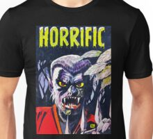 Horrific Tales Werewolf monster comic cover Unisex T-Shirt