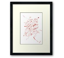 0306 - Red Head looking nowhere Framed Print