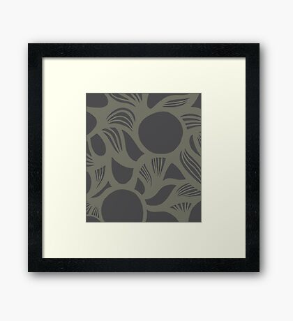 orb (gray) Framed Print