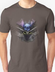 Baby Toothless Dragon and Stitch Unisex T-Shirt