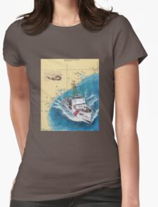 USCG RELIANCE TX Nautical Chart Map Cathy Peek Womens Fitted T-Shirt