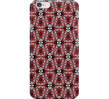 Red Black (Geometric Abstract) iPhone Case/Skin