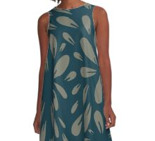 blossom (blue/gray) A-Line Dress