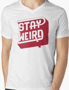STAY WEIRD Mens V-Neck T-Shirt