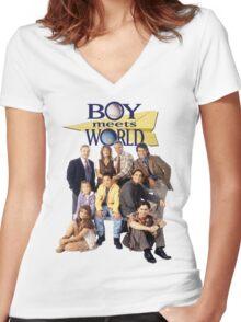 Boy Meets World Cast Women's Fitted V-Neck T-Shirt