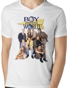 Boy Meets World Cast Mens V-Neck T-Shirt