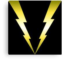 V Lightning Canvas Print