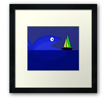 Monster fish Framed Print