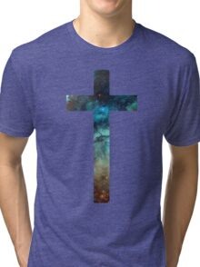 Christian Cross Tri-blend T-Shirt