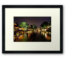 Wuhzen historic Chinese water town Framed Print