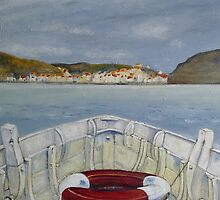 Heading Home, Staithes by Sue Nichol