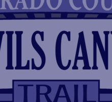 Devils Canyon Colorado offroad Jeep trail Sticker