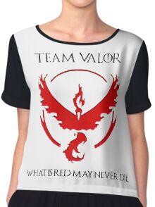 Team Valor Design - Pokemon GO Chiffon Top