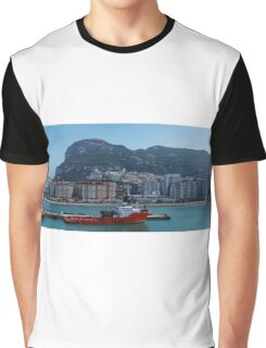 Panorama of Gibraltar from the Sea Graphic T-Shirt