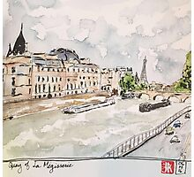 Paris Seine River Photographic Print
