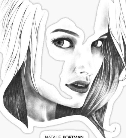Natalie Portman Illustration Sticker