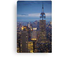 Empire State Blue Night Canvas Print