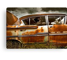 Abandoned 1958 Chevy Biscayne Canvas Print