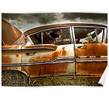 Abandoned 1958 Chevy Biscayne Poster