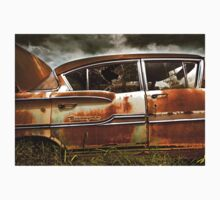 Abandoned 1958 Chevy Biscayne Kids Tee