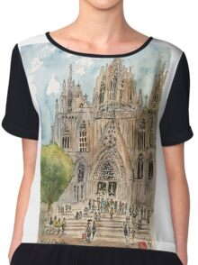 Barcelona Cathedral Chiffon Top