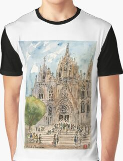 Barcelona Cathedral Graphic T-Shirt