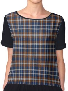 02382 Wake County, North Carolina Fashion Tartan  Chiffon Top