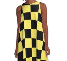 Beautiful Cushions / Collection/ BC Yellow Checks A-Line Dress
