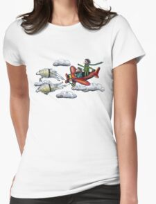 Sky Journey Womens Fitted T-Shirt