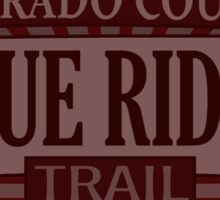 Blue Ridge Colorado offroad Jeep trail Sticker
