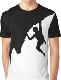 man bouldering silhouette Graphic T-Shirt