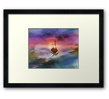 The Belated Boat Framed Print