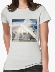 UFO Over London 2 Womens Fitted T-Shirt