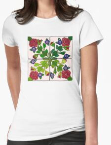 Portuguese Tiles Womens Fitted T-Shirt