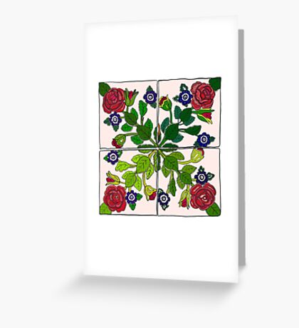 Portuguese Tiles Greeting Card