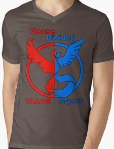 House Divided Valor vs. Mystic Mens V-Neck T-Shirt
