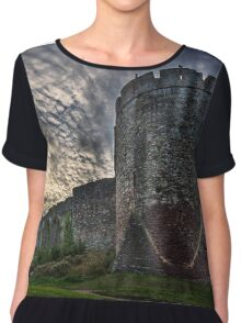 Chepstow Castle Walls  Chiffon Top